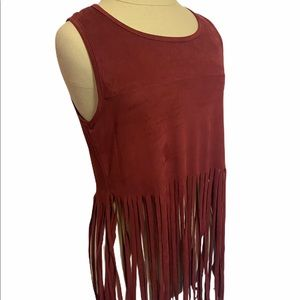 Acemi Women's boho fringed Top •Size Small